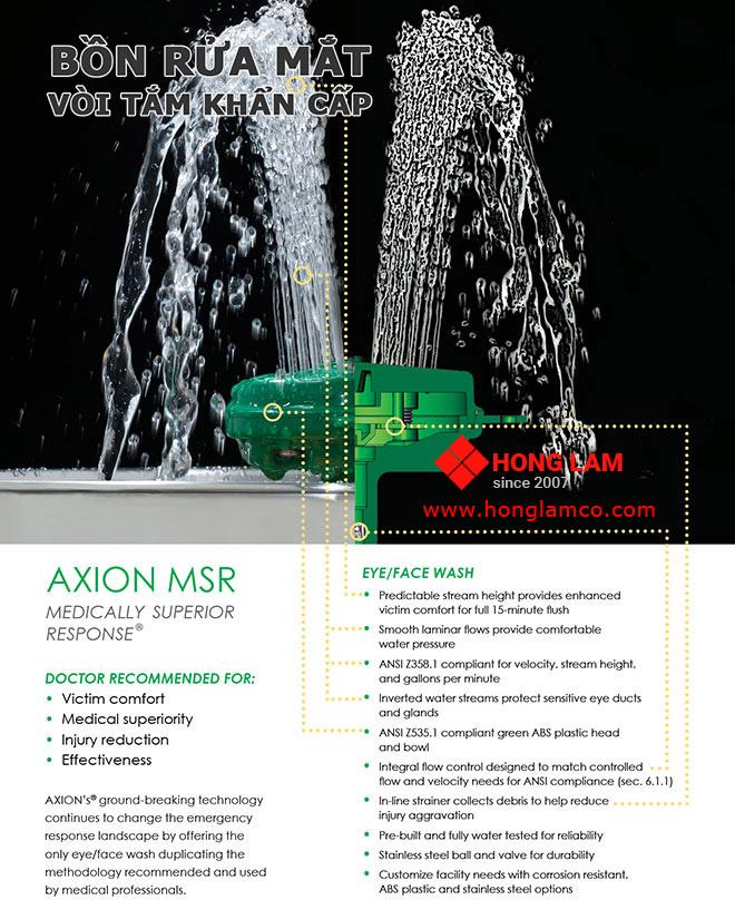 Bồn rửa mắt / mặt AXION cải tiến mới cho mắt và mặt