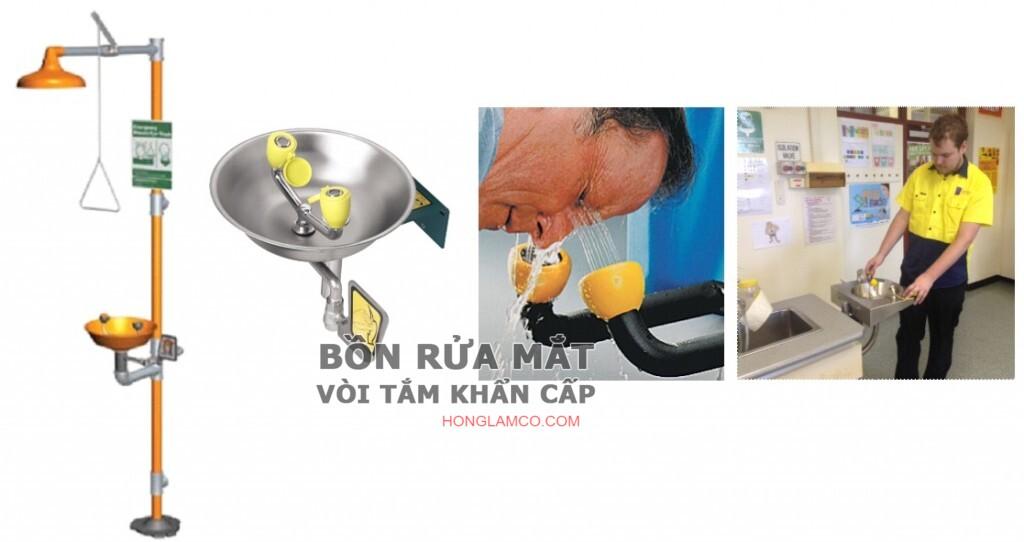 Lắp đặt và vận hành đúng cách thiết bị rửa mắt khẩn cấp