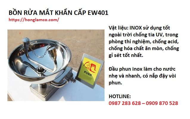 Cung cấp bồn rửa mắt khẩn cấp EW401 hàng chuẩn - giá tốt
