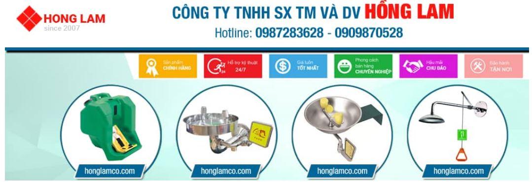 Các sản phẩm bồn rửa mắt khẩn cấp do Hồng Lam cung cấp